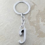 10030-J PLAIN INITIAL LETTER KEY CHAIN
