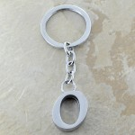10030-O PLAIN INITIAL LETTER KEY CHAIN