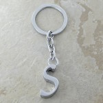 10030-S PLAIN INITIAL LETTER KEY CHAIN