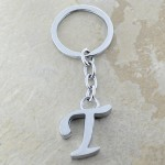 10030-T PLAIN INITIAL LETTER KEY CHAIN