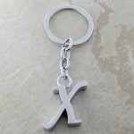10030-X PLAIN INITIAL LETTER KEY CHAIN
