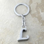 10030-L PLAIN INITIAL LETTER KEY CHAIN