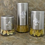 181409-FDL-SET/3 GLASS BOTTOM SS CANISTER SET W/FDL
