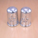 3416 - FDL SALT PEPPER SET - HAMMERED DESIGN