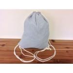 32605-BLUE SEERSUCKER  DRAWSTRING BACK PACK BAG
