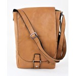 9002 -BEIGE LEATHER (PU) WINE BAG