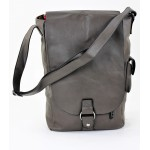 9002 -GRAY LEATHER (PU) WINE BAG