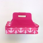 32561-PINK ANCHOR DESIGN INSULATED CASSEROLE CARRIER W/HANDLE
