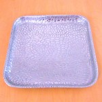 52052 - SQUARE TRAY / W ALIGATOR DESIGN