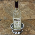 52173 -BEADED WINE COASTER OR CANDLE HOLDER