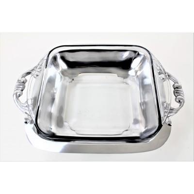 52543 - PLAIN  FANCY HANDLE HOLDER PYREX  W/GLASS