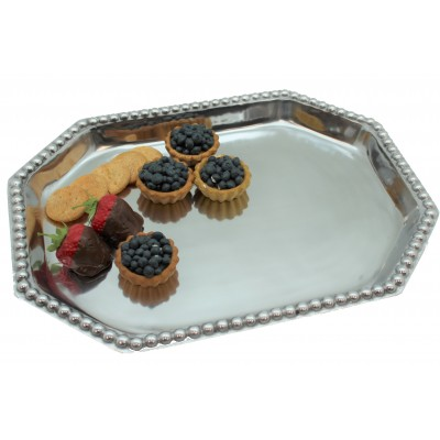 52553 - LARGE RECTANGULAR BEADED TRAY