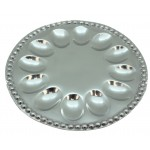 52555 - BEADED ROUND HOLD 12 DEVILED EGG TRAY