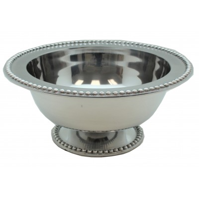 52554-LARGE BEADED PUNCH BOWL W/PEDESTAL