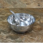 80025 - HAMMERED BOWL & SPOON SET