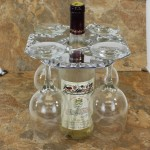 52057 WINE GLASS HOLDER W/ SWIRL DESIGN