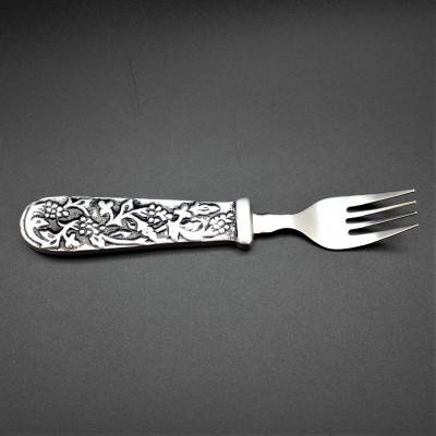 22157 - GRAPE DESIGN PEWTER FORK