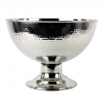52538-LARGE STAINLESS STEEL HAMMERED PUNCH BOWL