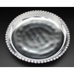 1164 -ROUND BEADED TRAY DENTED DESIGN