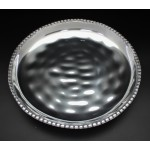 1167 -ROUND BEADED TRAY DENTED DESIGN