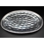 1168 -OVAL BEADED TRAY DENTED DESIGN