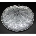1194 - LARGE ROUND TRAY LEAF DESIGN