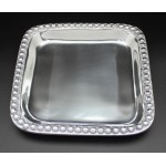 1263-BEADED SQUARE TRAY