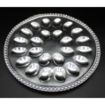 1270 - BEADED ROUND HOLD 24 DEVILED EGG TRAY