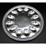 1271 - BEADED ROUND HOLD 12 DEVILED EGG TRAY