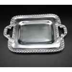 1273-BEADED SMALL RECT TRAY W/HANDLE
