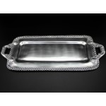 1275 - BEADED RECT. TRAY W/HANDLE