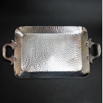 3510-HAMMERED SMALL TRAY W/HANDLE