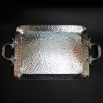 3509-HAMMERED MEDIUM TRAY W/HANDLE