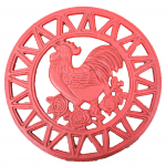 56665 - IRON ROOSTER ROUND TRIVET