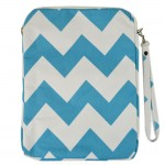 180621-AQUA/WHITE CHEVRON DESIGN IPAD 2 ,3 AND NEW IPAD COVER