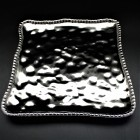 SC23A-SILVER PORCELAIN SQUARE TRAY