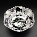 WH101-SILVER PORCELAIN ROUND BOWL