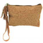 9175CG - CORK AND GLITTER POUCH COSMETIC SMALL BAG