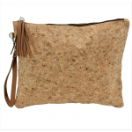 9176G - CORK AND GLITTER POUCH COSMETIC BAG