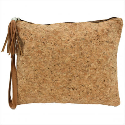 9176C - CORK POUCH COSMETIC BAG