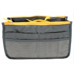 9194 -GREY/YELLOW PURSE INSERT ORGANIZER