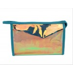 9171 -AQUA HOLOGRAPHIC COSMETIC BAG