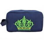 9237- NAVY CROWN COSMETIC BAG