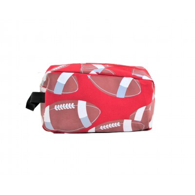 9240- RED FOOTBALL COSMETIC BAG
