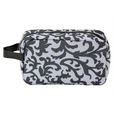 12004- WHITE AND GREY COSMETIC POUCH