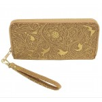 9177 - CORK AND GOLD DESIGN WALLET
