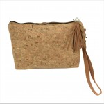 9175 - CORK AND GLITTER POUCH COSMETIC SMALL BAG