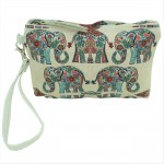 9179 - ELEPHANTS COIN POUCH OR COSMETIC/MAKEUP BAG