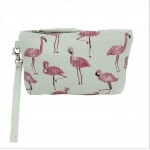 9182 - FLAMINGOS COIN POUCH OR COSMETIC/MAKEUP BAG