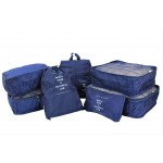 9193NY -7 PC TRAVEL LUGGAGE ORGANIZER